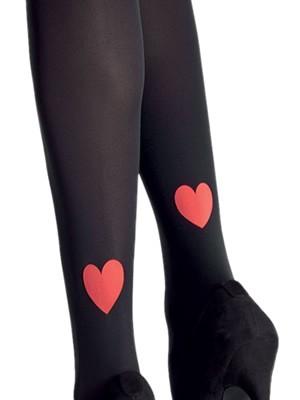 Franzoni Καλσόν Opaque Timida 50Den - Σχέδιο Καρδιά - Valentine 19