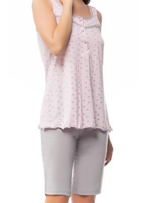 Πυτζάμα Γιώτα Homewear - 100% Βαμβακερό - Μακρύ Σόρτς - Δαντέλα & Βολάν