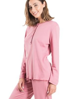 Πυτζάμα ΓΙΩΤΑ Homewear - Γεμάτο Βαμβάκι - Σχέδιο Κέντημα - Νέα Μαμά - Χειμώνας 2019/20