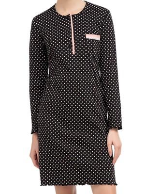 Νυχτικό ΓΙΩΤΑ Homewear - Γεμάτο Βαμβάκι - Dots Πουά - Νέα Μαμά - Χειμώνας 2020/21