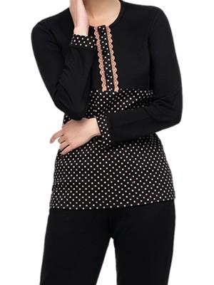 Πυτζάμα ΓΙΩΤΑ Homewear - Γεμάτο Βαμβάκι - Dots Πουά & Κουμπιά - Χειμώνας 2020/21