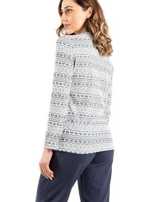 Πυτζάμα ΓΙΩΤΑ Homewear - 100% Βαμβακερή - All Over Σχέδιο & Κουμπιά - Χειμώνας 2020/21