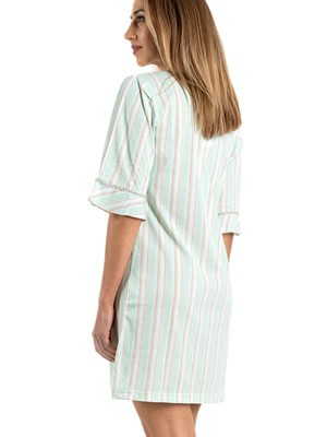 Νυχτικό ΓΙΩΤΑ Homewear -100% Βαμβακερό- Lurex Σχέδιο - Καλοκαίρι 2021