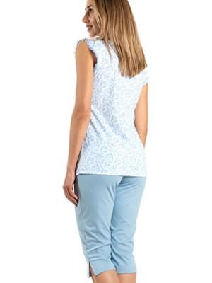 Πυτζάμα ΓΙΩΤΑ Homewear - 100% Βαμβακερή -All Over Σχέδιο & Κουμπιά - Καλοκαίρι 2021