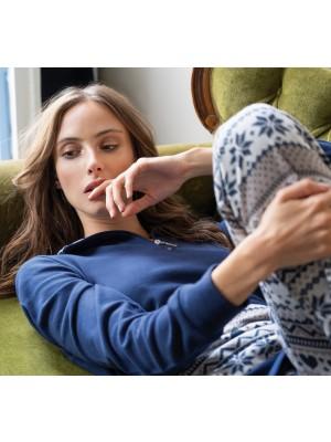 Πυτζάμα ΓΙΩΤΑ Homewear - Γεμάτο Βαμβάκι - Πλεχτό Look - Stay Home 2020