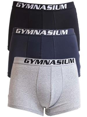 Ανδρικά Boxer Gymnasium - Ελαστικό & Απαλό Βαμβάκι - 3 τεμ