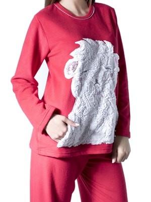 Πυτζάμα Fleece Harmony – Ζεστή & Απαλή – Ανάγλυφο Γούνινο Σχέδιο