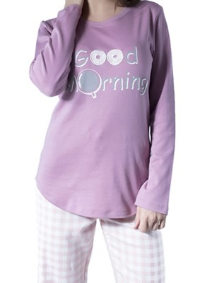 Πυτζάμα Φόρμα Harmony – 100% Βαμβάκι Interlock – Καρό Παντελόνι