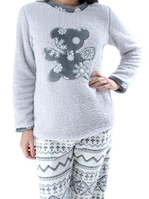 Πυτζάμα Fleece Harmony – Ζεστή & Απαλή – Ethnic Σχέδιο