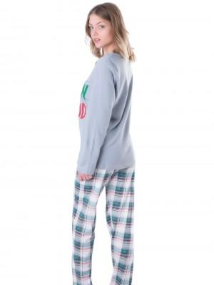 Πυτζάμα Harmony 100% Βαμβακερή - Καρό Παντελόνι