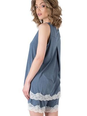 Πυτζάμα HARMONY - Απαλό Viscose - Διακόσμηση Δαντέλας - Καλοκαίρι 2019