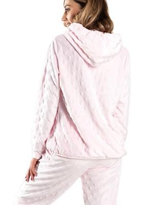 Πυτζάμα Πολυτελείας HARMONY Fleece - Extra Ζεστή - Ανάγλυφο Σχέδιο - Χειμώνας 2020/21