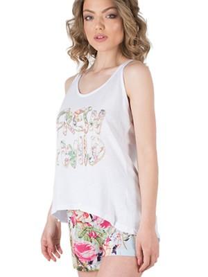 Πυτζάμα HARMONY - 100% Βαμβάκι - Floral Σχέδιο - Καλοκαίρι 2019