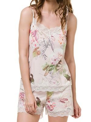 Babydoll HARMONY - Modal Βαμβάκι - Floral Σχέδιο & Δαντέλα - Καλοκαίρι 2020