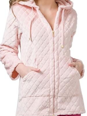 Ρόμπα Πολυτελείας HARMONY Fleece - Extra Ζεστή - Ανάγλυφο Σχέδιο - Χειμώνας 2020/21