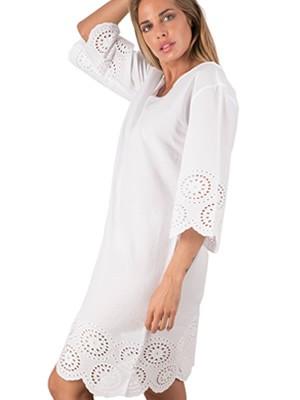 Φόρεμα Καφτάνι Harmony - 100% Βαμβακερό - Σχέδιο Κέντημα - Καλοκαίρι 2019