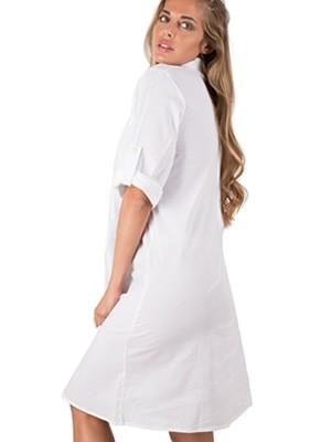 Φόρεμα - Καφτάνι Harmony - Αέρινο Ύφασμα - Σχέδιο Κέντημα & Κουμπιά - Καλοκαίρι 2019