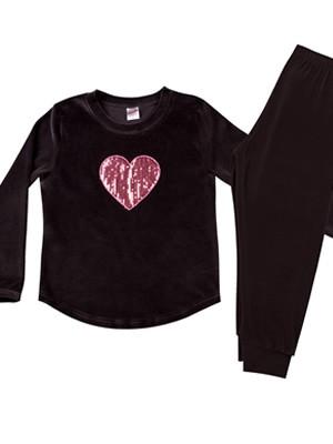 MINERVA Παιδική Πυτζάμα Heart - Απαλό Βελούδο - Χειμώνας 2020/21