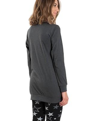 Πυτζάμα Γυναικεία INTIMAMI - 100% Βαμβακερή - Lurex & Κολάν Παντελόνι - Stay Home 2020