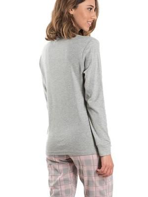 Πυτζάμα Γυναικεία KAPPA - 100% Βαμβακερή - Καρό Παντελόνι - Χειμώνας 2019/20