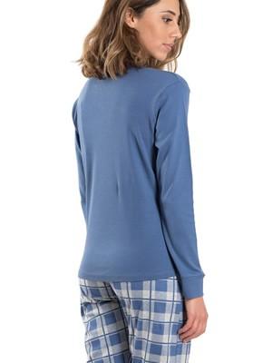 Γυναικεία Πυτζάμα KAPPA - 100% Βαμβακερή - Καρό Παντελόνι - Χειμώνας 2019/20