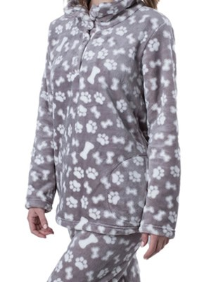 Πυτζάμα Πολυτελείας Kare - Ζεστό  Fleece - All Over Σχέδιο - Χειμώνας 19