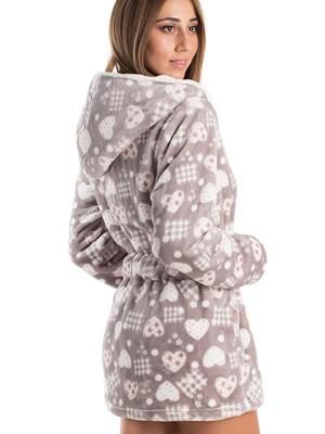 Ρόμπα KARE - Ζεστό & Απαλό Fleece - All Over Σχέδιο Καρδιές - Smart Pick 19/20