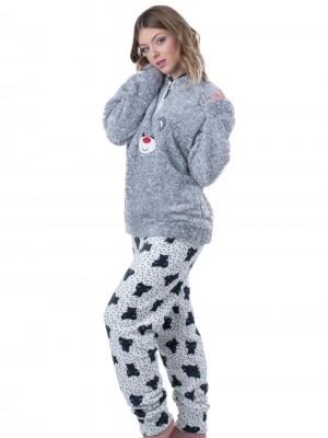 Πυτζάμα Homewear Karelpiu - Απαλό & Ζεστό Fleece - Χειμώνας 18/19