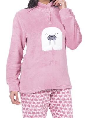 Πυτζάμα Homewear Karelpiu - Απαλό & Ζεστό Fleece - All Over Σχέδιο Καρδιές - Χειμώνας 2018/19