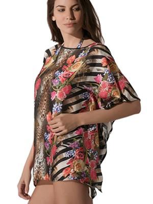 Καφτάνι Beachwear Luna Feline - All Over Σχέδιο - Αέρινο Ύφασμα