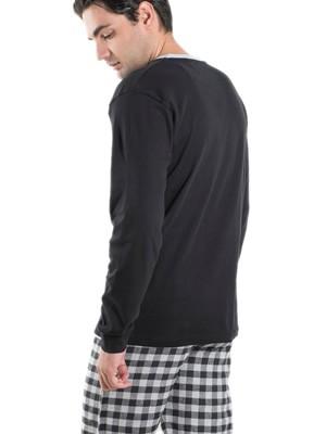 Ανδρική Πυτζάμα Homewear MEI - 100% Βαμβακερή - Καρό Παντελόνι - Χειμώνας 2019/20
