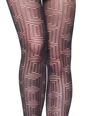 Καλσόν Γεμάτο Meri By Mura Moda - Πλεχτό γεωμετρικό Σχέδιο
