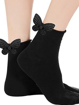 Γυναικεία Κάλτσα Meritex - Lurex Σχέδιο Πεταλούδα - Ελαστικό Βαμβάκι