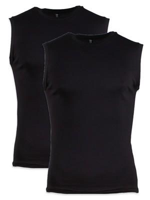 Minerva MicroCotton Αντρική Αμάνικη Μπλούζα Φανέλα - Συσκευασία με 2