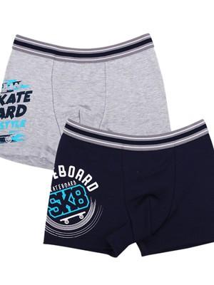 Παιδικό Εφηβικό Boxer MINERVA Skateboard - Αγνό Βαμβάκι - Κατά των Ερεθισμών - 2 PACK - Καλοκαίρι 2019