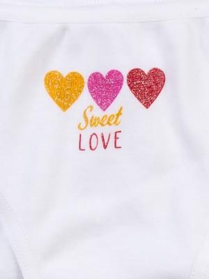 Παιδικό-Εφηβικό Σλιπ MINERVA Love Glitter - 100% Αγνό Βαμβάκι - Χειμώνας 2020/21