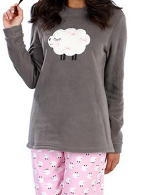 Πυτζάμα Γυναικεία Minerva Sheeps - Ζεστό Fleece & Βαμβάκι -Γούνινο Σχέδιο - Hot Pick 18-19