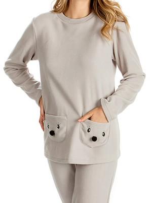 MINERVA Πυτζάμα Γυναικεία Pocket Faces - Ζεστό & Απαλό Fleece - Hot Pick 19/20