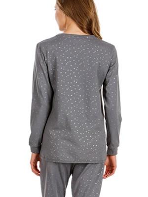 Πυτζάμα Γυναικεία MINERVA Shine - 100% Βαμβάκι Interlock - Glitter Μεταλιζέ Σχέδιο - Hot Pick 19/20