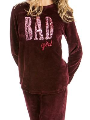 Πυτζάμα Πολυτελείας Minerva Velvet Bad Girl - Γεμάτο Βελούδο -  Σχέδιο με Παγιέτες - FW18/19