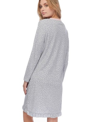 Γυναικείο Νυχτικό MINERVA - 100% Bαμβάκι Interlock - Animal Σχέδιο - Νέα Μαμά - Χειμώνας 2019/20