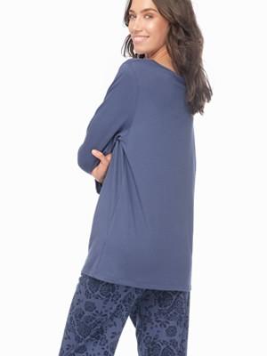 Πυτζάμα Γυναικεία MINERVA Tatoo - Απαλό Βαμβάκι Modal - Floral Σχέδιο - Stay Home 2020