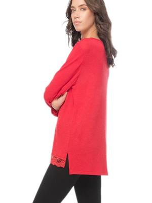 Πυτζάμα Γυναικεία MINERVA - Viscose Πλεχτό Τοπ & Κολάν Παντελόνι - Stay Home 2020