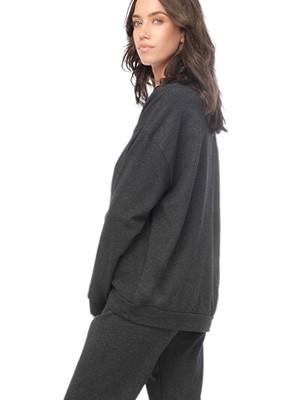 Πυτζάμα Γυναικεία Φούτερ MINERVA Choose Happy - Extra Ζεστή - Smart Choice FW20/21