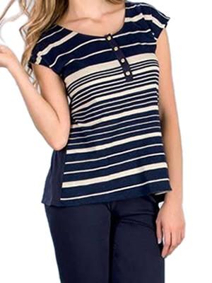 Πυτζάμα Homewear Γυναικείο Minerva Marina - 100% Βαμβακερή - Καλοκαίρι 2018