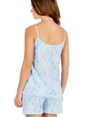 Πυτζάμα Γυναικεία MINERVA - Απαλό Viscose - Floral Σχέδιο & Δαντέλα - Καλοκαίρι 2019