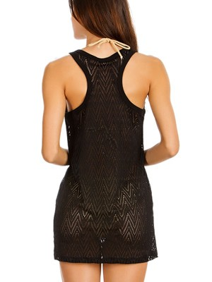 GOSSIP Γυναικείο Φόρεμα Beachwear Barbados - Πλεχτό Σχέδιο - Καλοκαίρι 2019