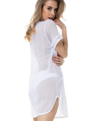 GOSSIP Γυναικείο Beachwear Φόρεμα Power Beach - Διχτυωτό Πλεχτό Ύφασμα - Καλοκαίρι 2020