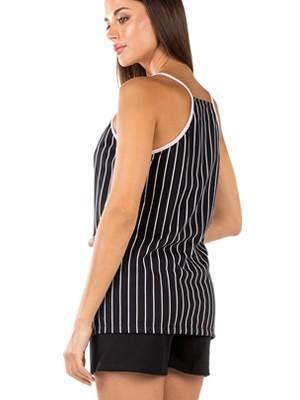 Γυναικεία Πυτζάμα MINERVA Stripes - 100% Βαμβακερή - Καλοκαίρι 2020