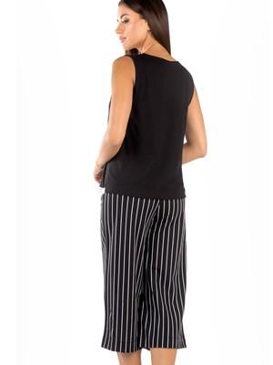 Πυτζάμα Γυναικεία MINERVA Stripes - 100% Βαμβακερή - Zip Culotte - Smart Choice SS21